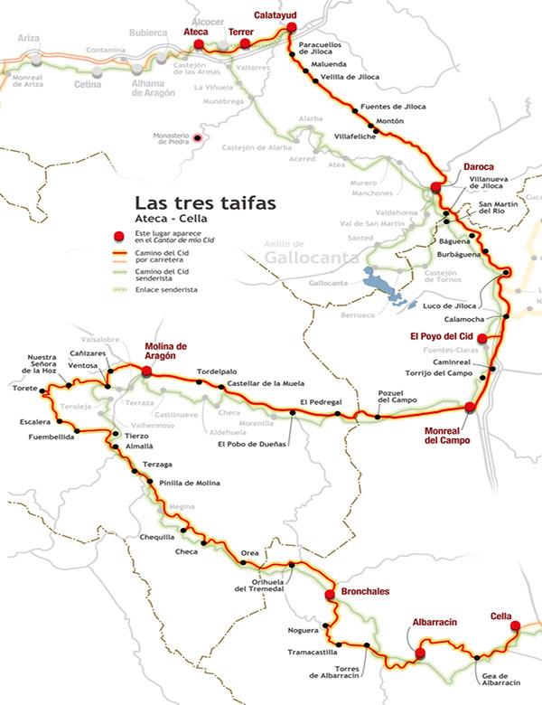 Bronchales, el plena etapa de Las Tres Taifas en el Camino del Cid a su paso pro la Sierra de Albarracín